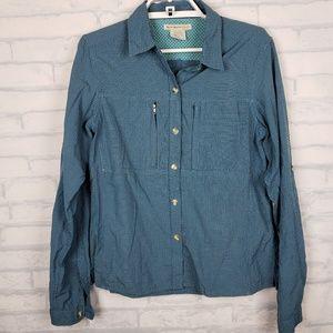 Exofficio button front nylon shirt medium      H2